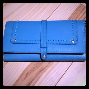 Nino Bossi turquoise long wallet New